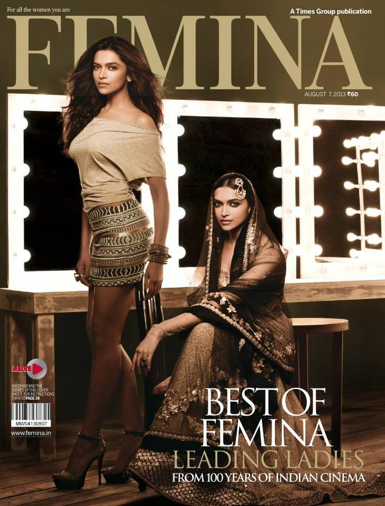 Deepika Padukone Graced On The Cover Of Femina India August 2013 Issue