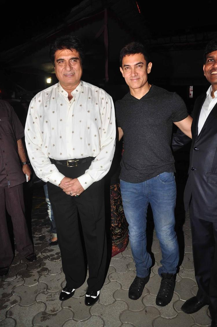 Aamir And Raj Attended The Screening Of  Issaq