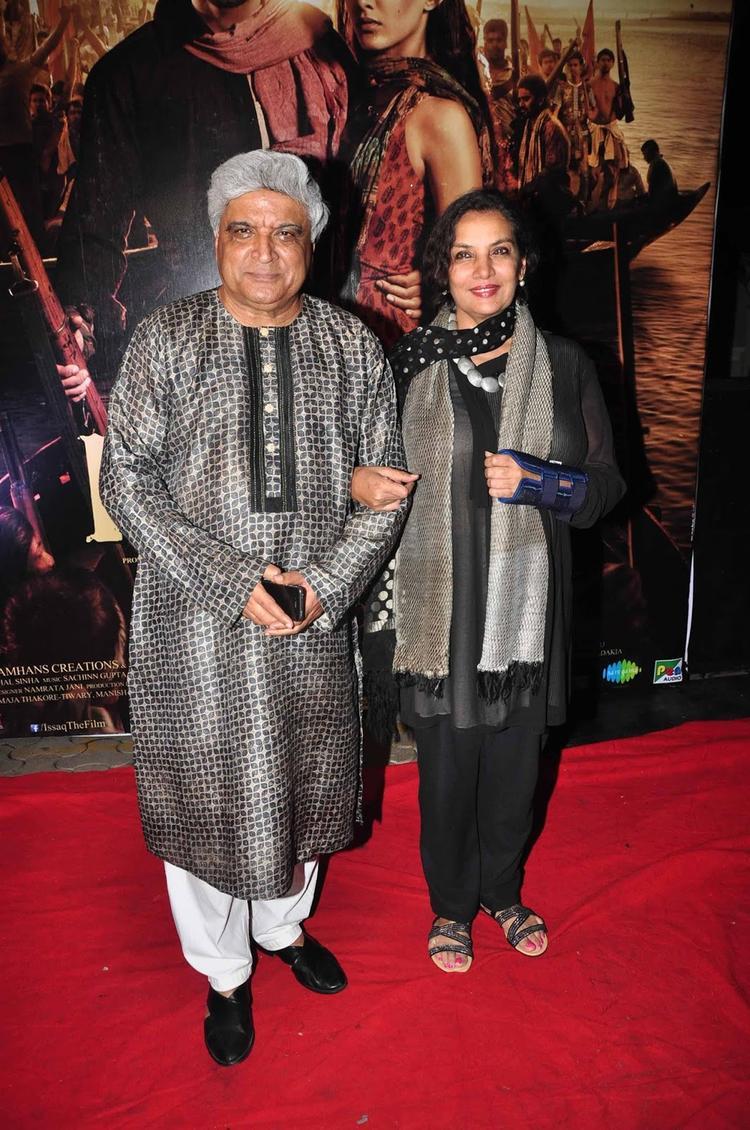 Javed Akhtar And Shabana Azmi On Red Carpet At Screening Of  Issaq
