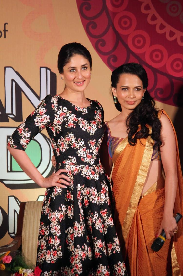 Kareena And Rujuta Nice Pose Photo Shoot At DVD Launch Event