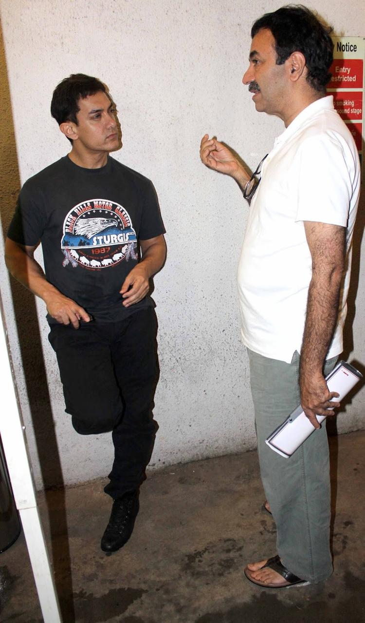 Pictures In Aamir Khan Snapped While Dubbing For His Film In Bollywood Miscellaneous