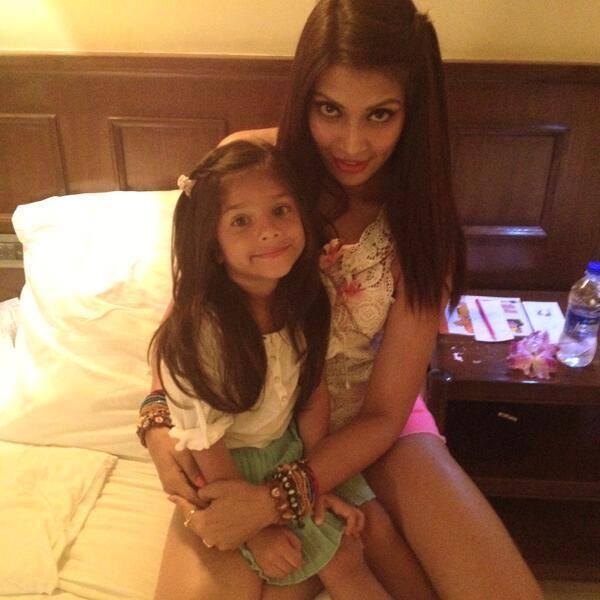 Bipasha Basu Latest Still With Her Niece Nia