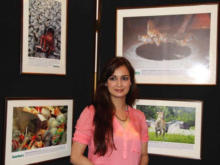 Dia Mirza At Press Club In Mumbai For The Promotion Of Save The Tiger Campaign