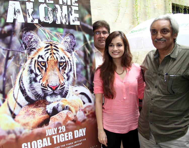 Dia Mirza Spotted To Promote Of Save The Tiger Campaign