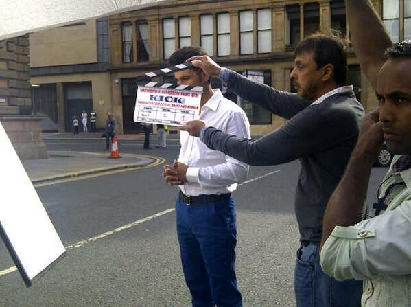 Randeep Hooda Posed On The Sets Of Kick At Glasgow