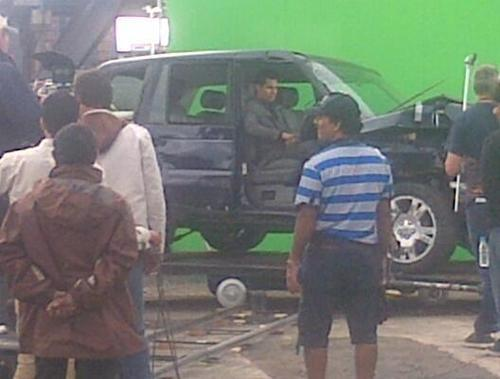 The Still Of Shooting Sets Of Kick Movie At Glasgow, Scotland