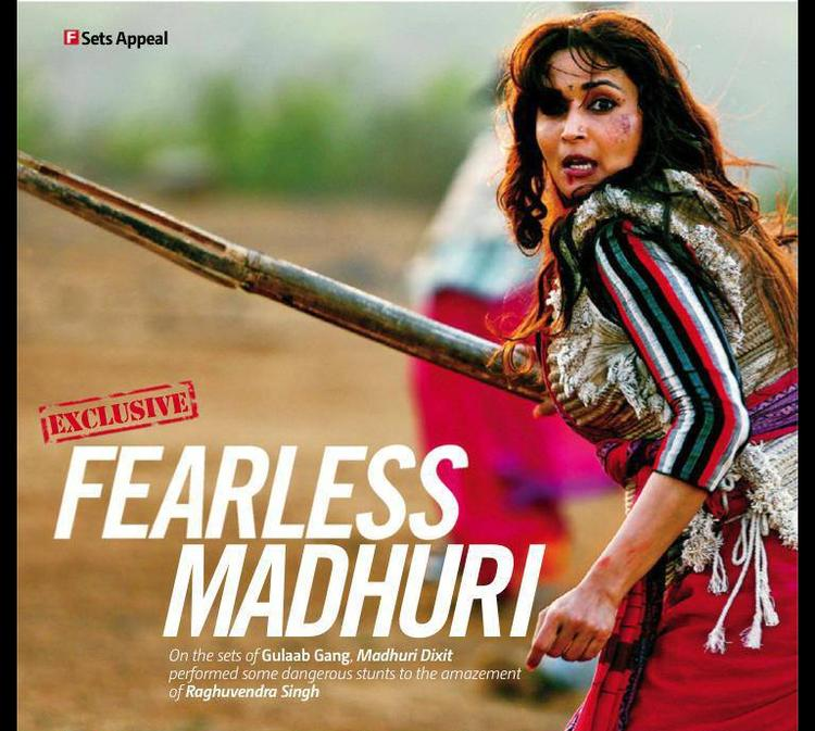 Madhuri Dixit Fearless Look Of Madhuri From The Movie Gulaab Gang