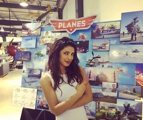 Priyanka Chopra Gorgeous Dazzling Look At The Planes Press Junket In LA