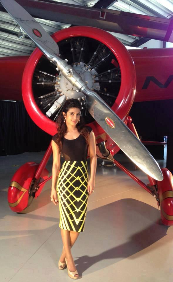 Priyanka Chopra Posed At The Planes Press Junket In LA