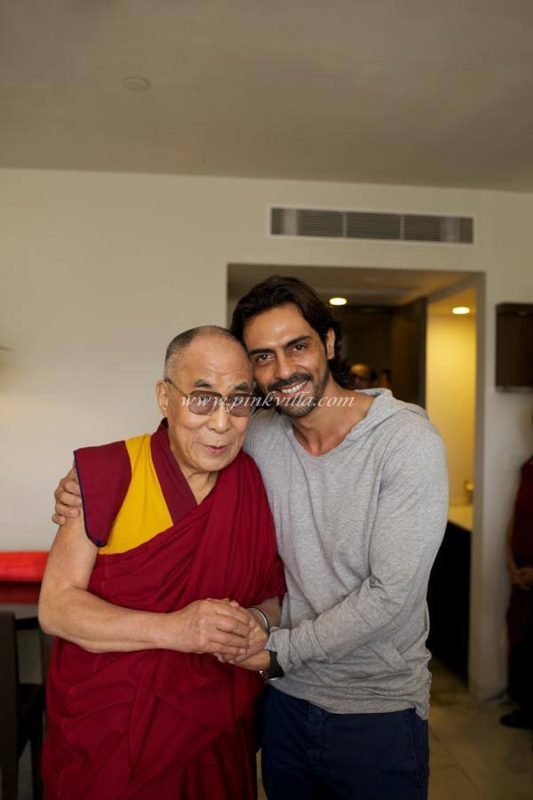 Arjun Rampal And Dalai Lama Pose To Photo Shoot