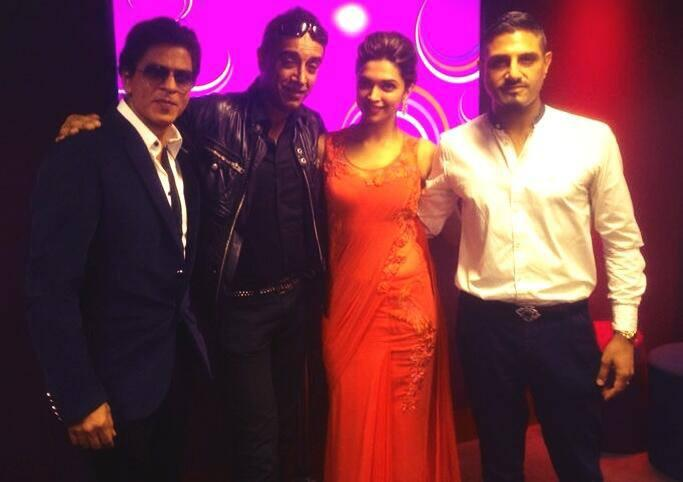 SRK And Deepika Clicked During Chennai Express Premiere At Cineworld Feltham In London