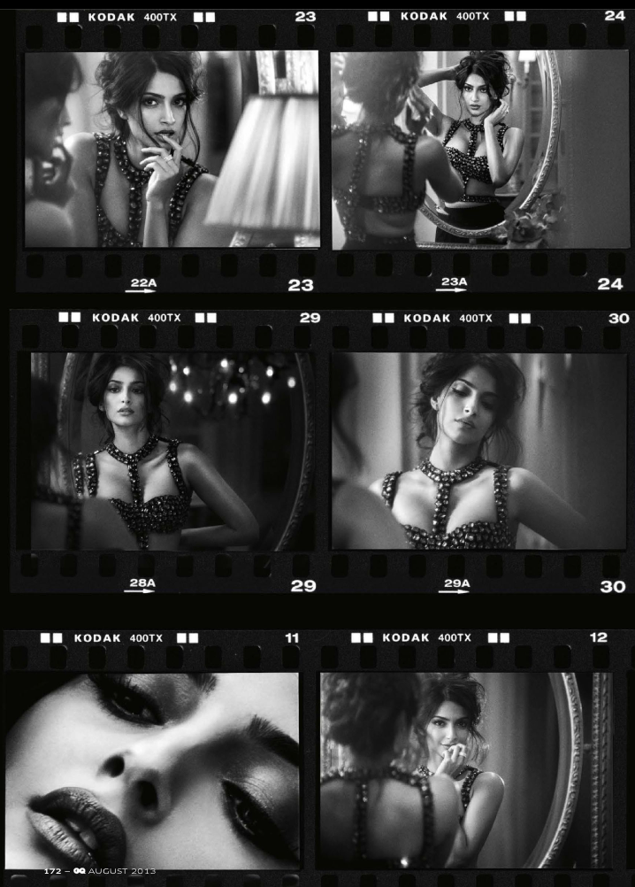 Sonam Kapoor In Different Look Photo Shoot For GQ India August 2013 Issue