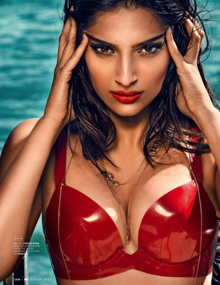 Sonam Kapoor Exclusive Hot And Sexy Look For GQ India August 2013 Issue