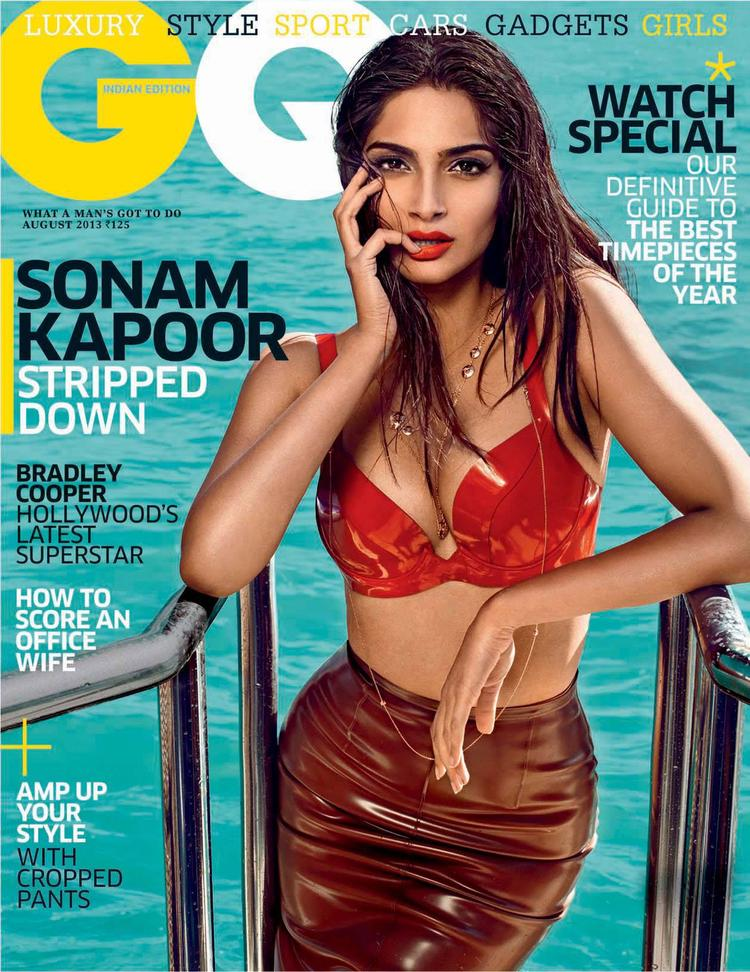 Sonam Kapoor Latest Sexy Look Graced On The Cover Of GQ India August 2013 Issue