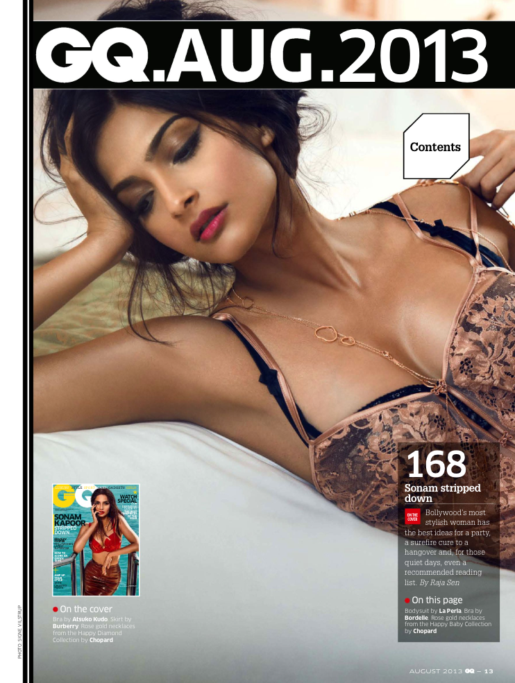 Sonam Kapoor Sizzling Hot Look For GQ India August 2013 Issue