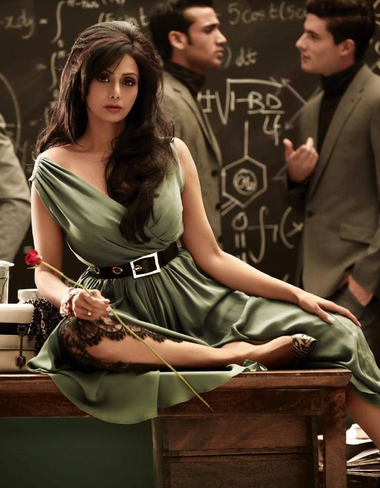 Sridevi Kapoor Trendy Glamour Hot Look For Vogue India August 2013 Issue