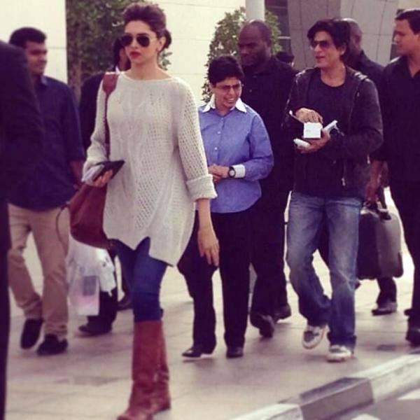 Deepika And SRK Glamour Look During The Promotion Of Chennai Express In Dubai