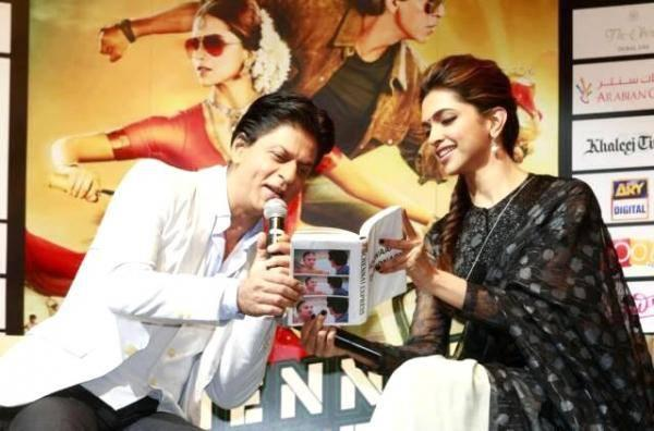 SRK And Deepika Address The Media At Dubai During The Promotion Of Chennai Express