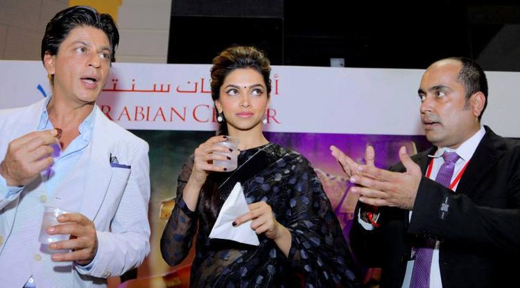 SRK And Deepika Present During The Promotion Of Chennai Express At Dubai