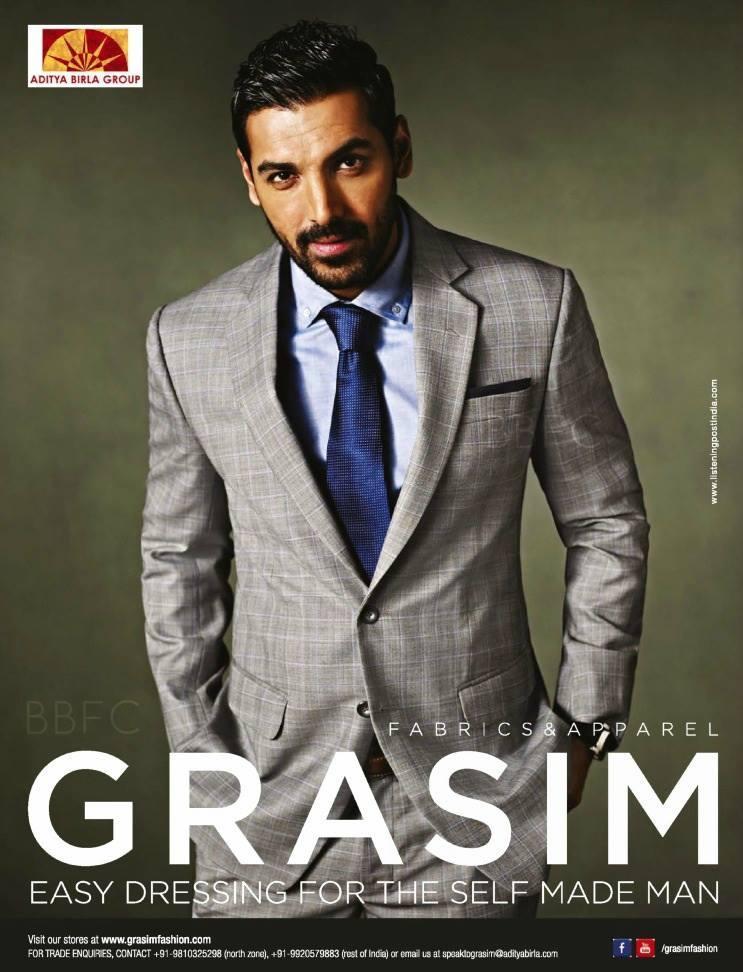 Elegant John Abrahams Latest Shoot For For Grasim Ad