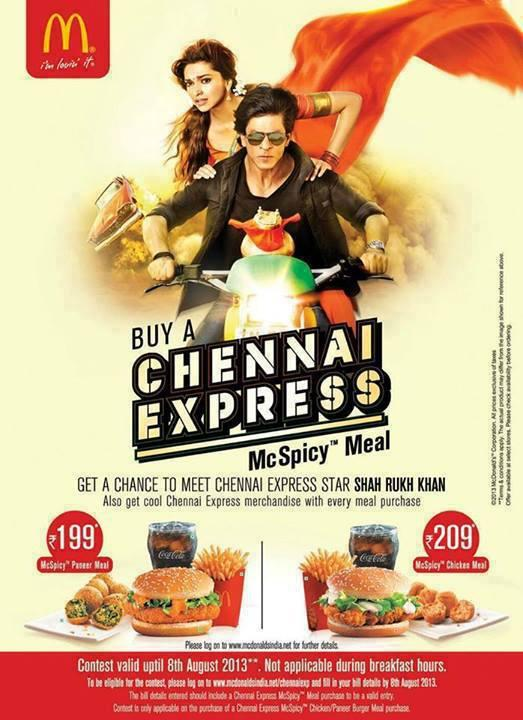 The Fist Look Of Chennai Express McSpicy Meals Poster