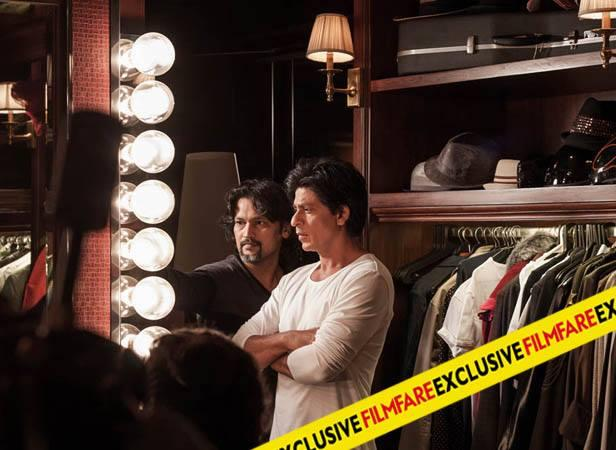 SRK On The Sets Of Filmfare Magazine August 2013 Issue Photo Shoot