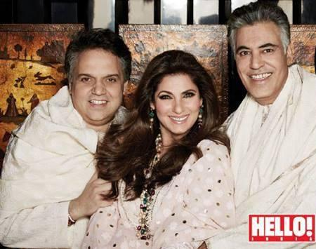 Abu Jani,Sandeep Khosla And Dimple Kapadia On The Cover Of HELLO