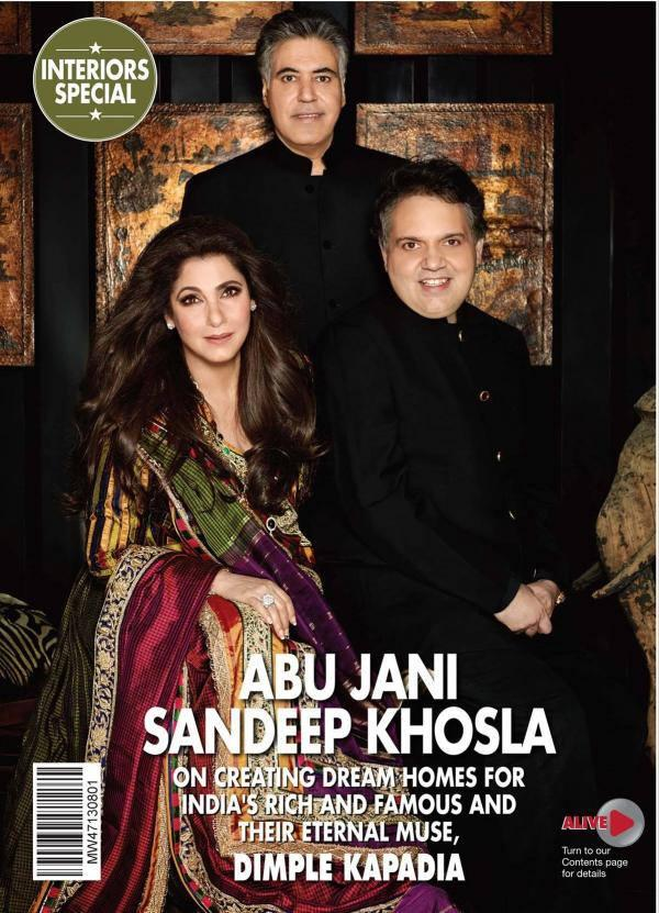 Abu Jani,Sandeep Khosla And Dimple Kapadia HELLO Magazine Photo Shoot