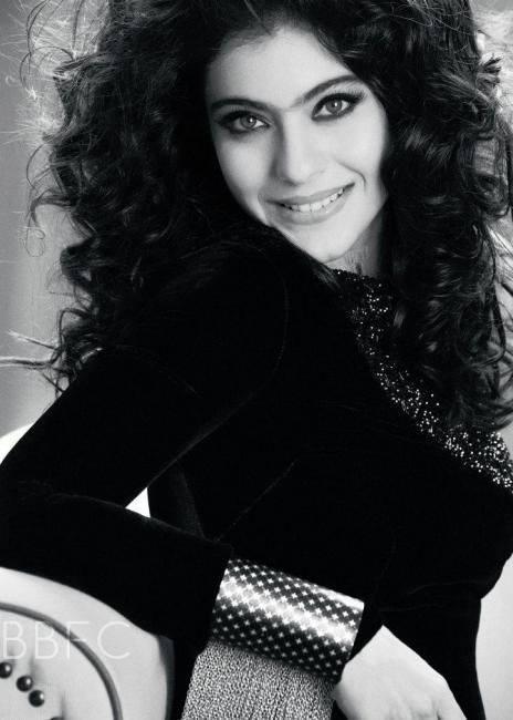 Kajol Devgan Black And White Amazing Photo For Filmfare Magazine