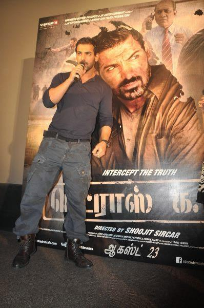 John Abraham Latest Still At The Press Meet Of Madras Cafe