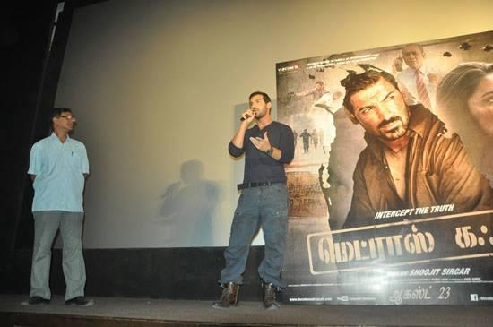 John Abraham Launches The Trailer Of The Tamil Version Of Madras Cafe