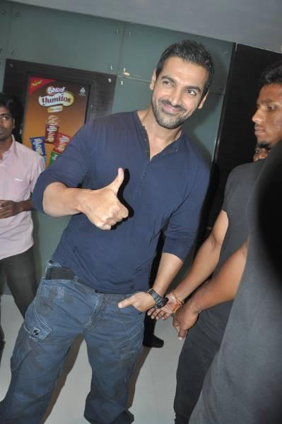 John Abraham Snapped At Chennai For Press Meet Of Madras Cafe