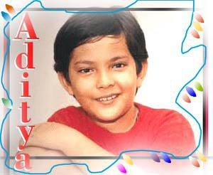 Aditya Narayan Childhood Very Cute Photo