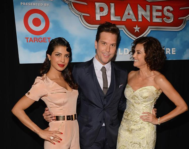 Priyanka And Teri Hatcher Cool Pose At The Premiere Of Disney's Planes