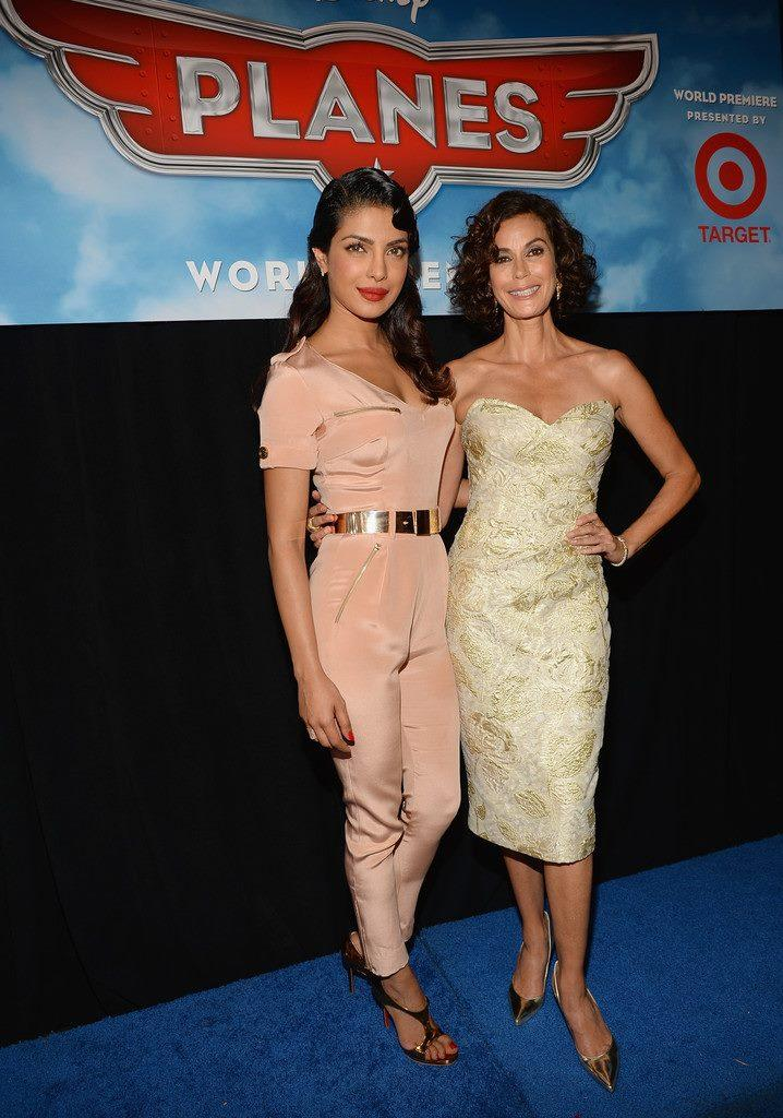 Priyanka And Teri Hatcher Strike A Pose At The Premiere Of Disney's Planes
