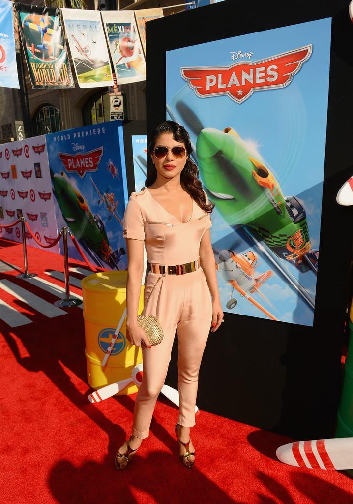 Priyanka Chopra Stylish Look On Red Carpet At The Premiere Of Disney's Planes