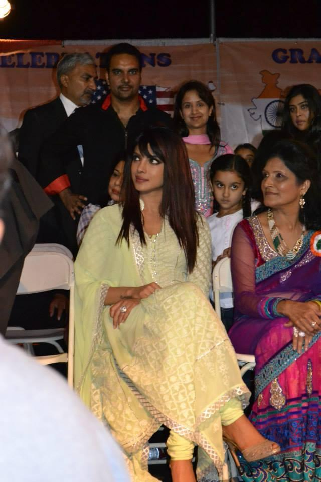 Priyanka Chopra At Los Angeles For Attend The India Day Parade 2013