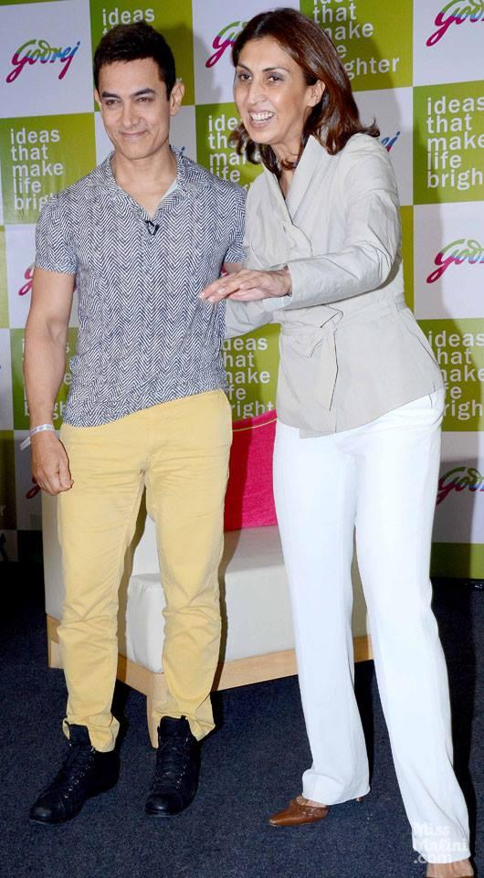 Style Icon Aamir Khan Visits Godrej Campus In Northeast Mumbai
