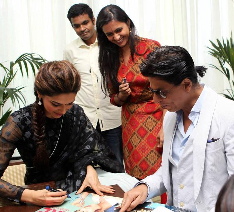 Deepika And SRK Signed Autograph Photo Still
