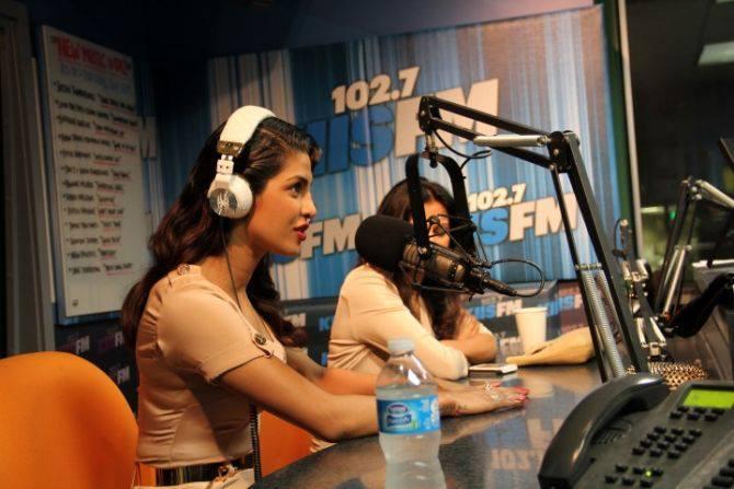 Priyanka Chopra Visits 1027kiis FM At LA For Recording Her Single Exotic