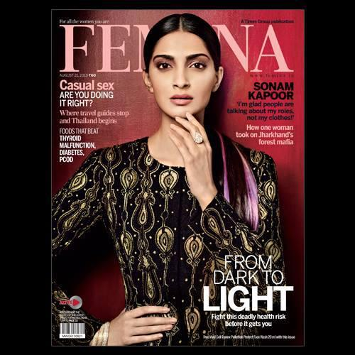 Sonam Kapoor Stunning Look On The Cover Of Femina Magazine August 2013 Issue