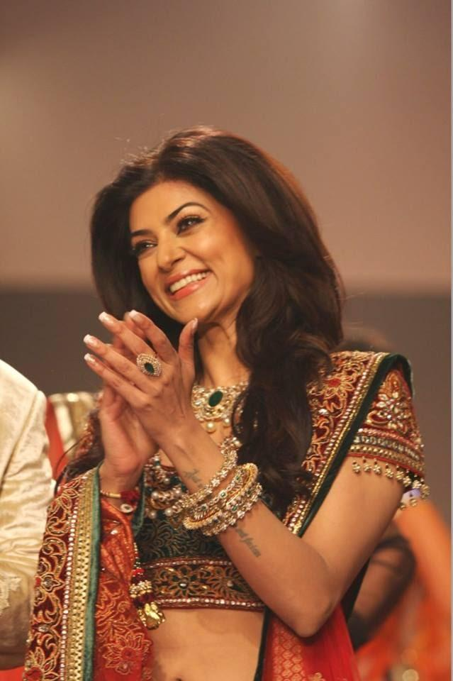 Sushmita Sen Bridal Glamour Appeared On The Ramp For Charu Jewels