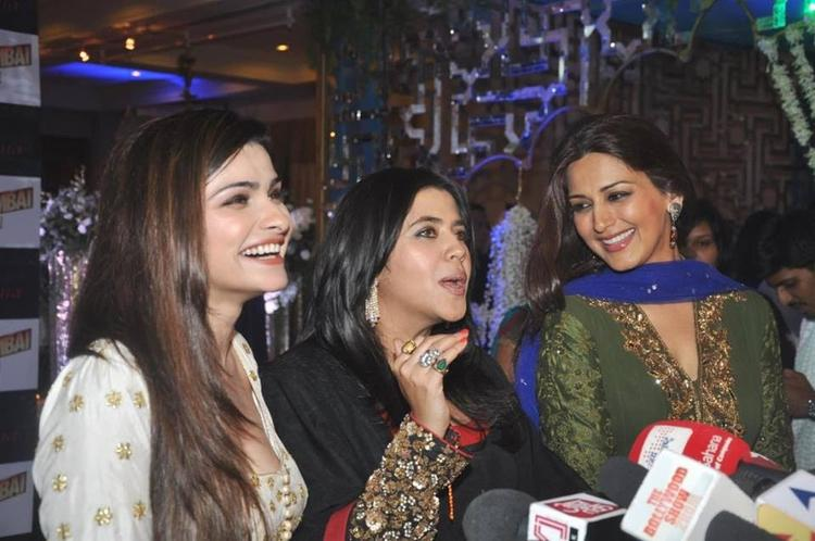 Ekta Kapoor With Media At Iftar Party Organized By Her For OUATIMD Promotion