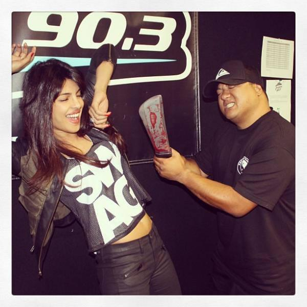 Priyanka Chopra In 90.3 FM During The Promotion Of Exotic At LA