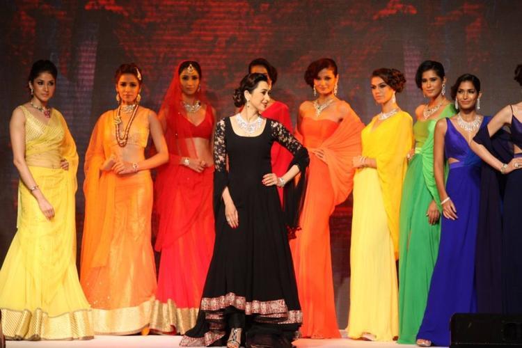 Karisma Kapoor In Autumn Winter 'Saptrangi' Collection Walks Ramp At IIJW 2013