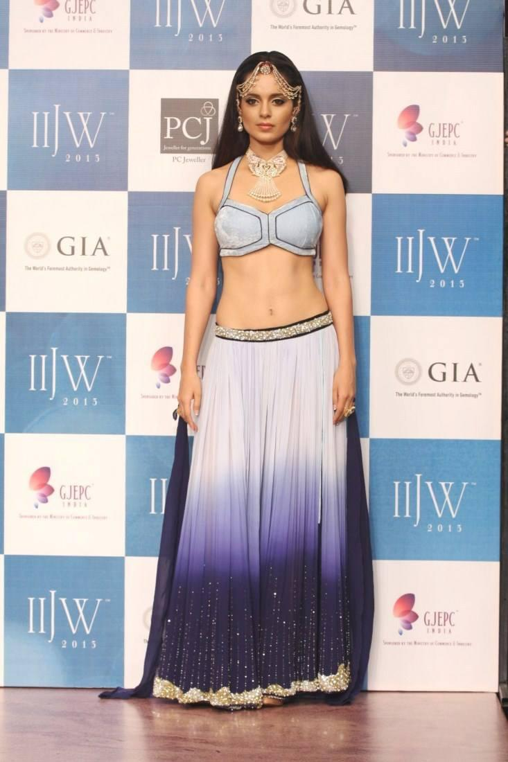 Kangana Ranaut Spotted For Walks Ramp At IIJW 2013