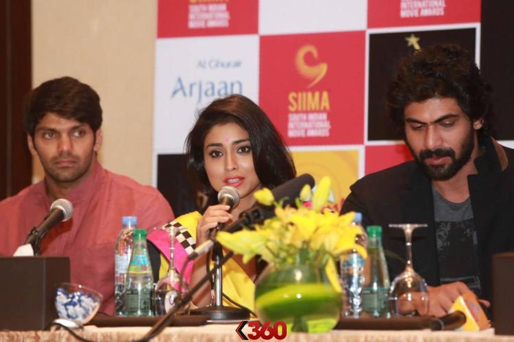 Arya,Shriya And Rana Attend The Press Conference At 2nd Edition Of SIIMA Awards 2013