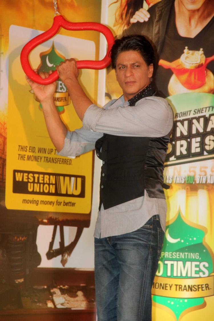 SRK Clicked During The Promotion Of Chennai Express In Association With Western Union