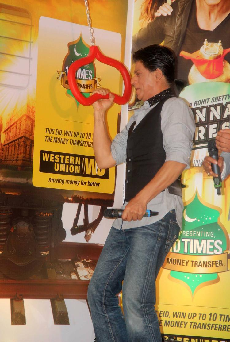 SRK Posed At Chennai Express Promotion In Association With Western Union
