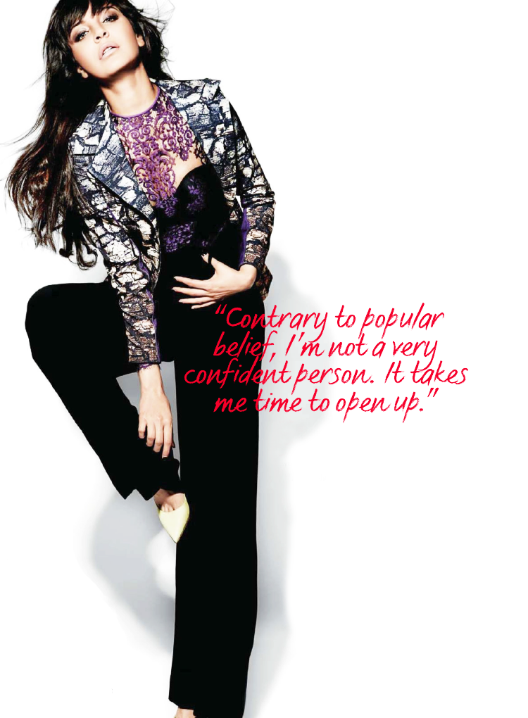 Hot Anushka Sharma Fab Still On The Cover Page Of Cosmopolitan India August 2013 Issue